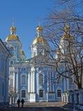 St Petersburg Cathédrale de mer de Nikolsky Image stock
