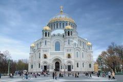 St Petersburg, cathédrale navale Images libres de droits