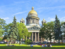 St. Petersburg, cathedral of St. Isaak (Isaakievskiy) Stock Photo