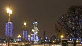 St. Petersburg in Christmas illumination Stock Photography
