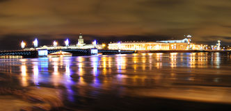 St. Petersburg Christmas panorama Royalty Free Stock Images