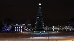 St. Petersburg, Christmas tree at night Stock Photography