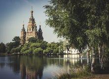 St. Petersburg. Church in St. Petersburg, Russia, Petergof stock image