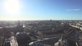 St.-Petersburg City In Calm Sunny Day, Russia stock footage