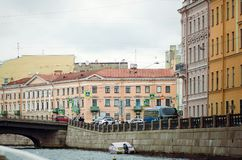 St. Petersburg, the city center. Beautiful architecture. St. Petersburg, the city center royalty free stock photography
