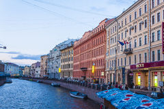 St. Petersburg. The city of St. Petersburg with cloudy sky, Russia Stock Images