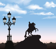 St. Petersburg city landmark, Russia. Peter the Great Monument, Stock Photos