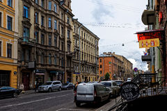St. Petersburg city life Stock Image