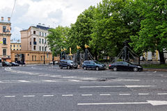 St. Petersburg city life Royalty Free Stock Photography