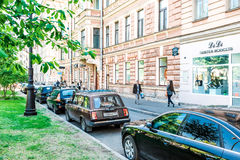 St. Petersburg city life Royalty Free Stock Photos