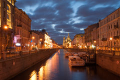 St Petersburg cityscape Stock Photos