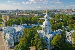 St Petersburg, complejo de la catedral de Smolny Fotos de archivo