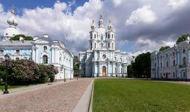 St Petersburg, complesso della cattedrale di Smolny Immagine Stock
