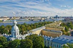 St Petersburg, complesso della cattedrale di Smolny Fotografie Stock