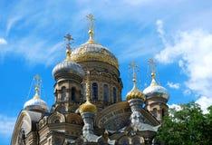 St. Petersburg, Compound Optina. St. Petersburg, Lieutenant Schmidt Embankment 27, Compound Optina, the cathedral, close-up dome Stock Photo