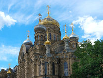 St. Petersburg, Compound Optina. St. Petersburg, Lieutenant Schmidt Embankment 27, Compound Optina, the cathedral, close-up dome Royalty Free Stock Photo