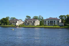 St. Petersburg. The cottage settlement on the bank of the river Stock Images