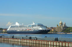 St. Petersburg, cruise liner Royalty Free Stock Images