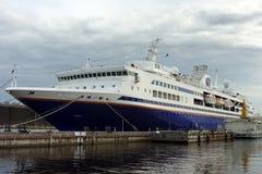 St. Petersburg, cruise liner berth Royalty Free Stock Image
