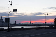 St. Petersburg at dawn. Royalty Free Stock Photos