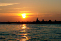 St. Petersburg at dawn Stock Photography