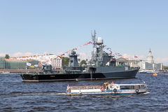 St. Petersburg on the Day Of The Navy Of Russia Stock Image
