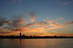 St. Petersburg in de ochtend Stock Afbeelding