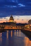 St. Petersburg. De Scène van de nacht Royalty-vrije Stock Foto's