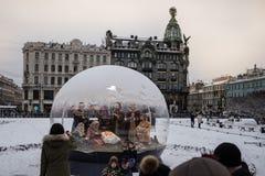 St. Petersburg, de Scène van de Kerstmisgeboorte van christus Stock Foto