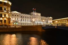 St Petersburg den Mariinsky slotten Arkivbild