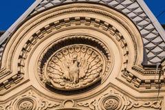 St Petersburg Der Dekor des Hauses auf der Straße Pestel Stockfoto