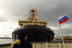 St Petersburg der Eisbrecher Stockbilder