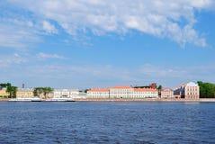St. Petersburg, dijk Universitetskaya stock afbeeldingen