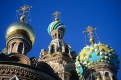 St Petersburg: Domkyrka av vår frälsare på blodet Royaltyfri Fotografi