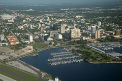 St. Petersburg Downtown - Florida. Aerial view of downtown , St. Petersburg, Florida Royalty Free Stock Image
