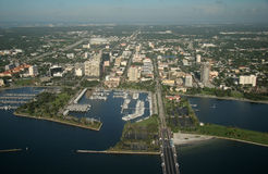 St. Petersburg Downtown - Florida. Aerial view of downtown , St. Petersburg, Florida Royalty Free Stock Photography