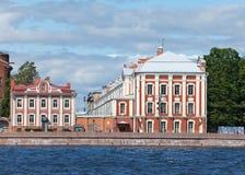 St Petersburg. Ein Gebäude der Landesuniversität Stockfotografie