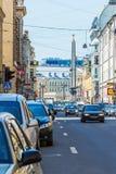 St Petersburg Eine Ansicht der Obelisk ` Held Stadt von Leningrad-` Lizenzfreie Stockfotografie