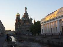 St Petersburg. El salvador en la sangre imagenes de archivo