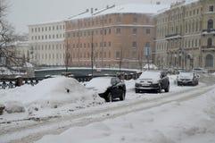 St Petersburg en el invierno Imagen de archivo libre de regalías