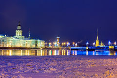 St. Petersburg in evening Stock Image