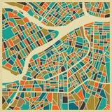 St Petersburg färgglat stadsplan Arkivbild