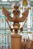 St. Petersburg, the figure of the three-headed eagle on the back Stock Images