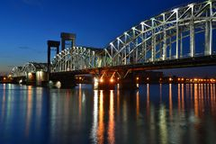 St Petersburg Finland bro Royaltyfri Bild