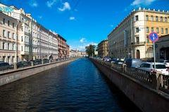St Petersburg, fiume di Neva Immagini Stock Libere da Diritti
