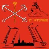 St Petersburg flaga ilustracja wektor