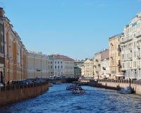 St Petersburg flod Royaltyfria Bilder