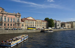 St Petersburg flod Fontanka Royaltyfri Fotografi