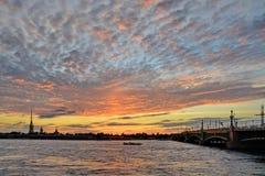 St Petersburg floden Neva Royaltyfri Foto