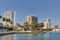 St. Petersburg Florida. Coast and skyline of St. Petersburg, Florida Stock Photo